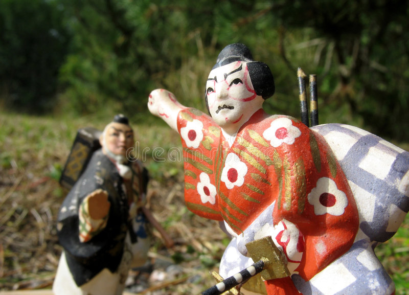 4 samurajów fotografia stock