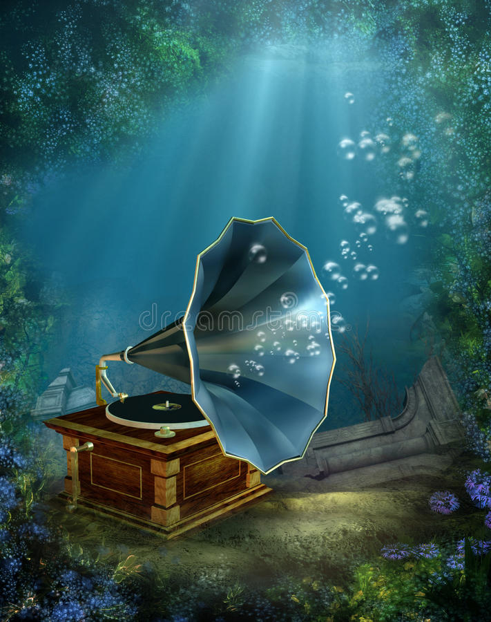 4 scenerii underwater royalty ilustracja