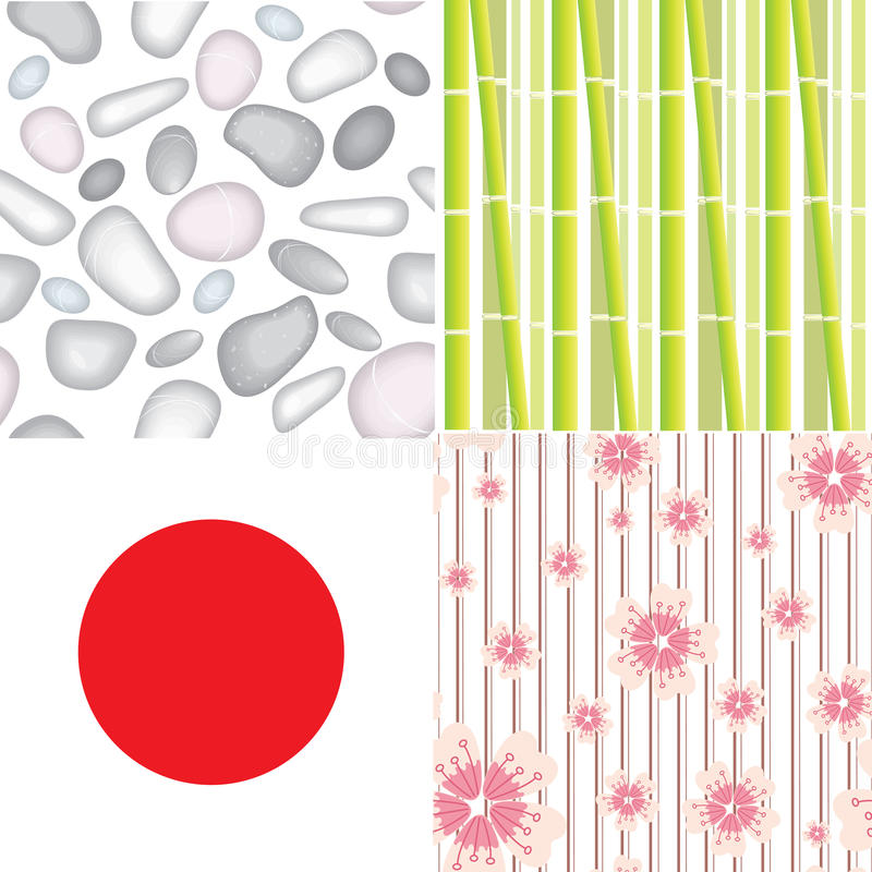 Download 4 seamless patterns stock vector. Image of layout, elements - 22688990