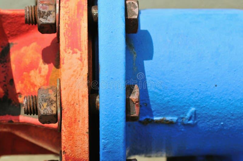 4 serie för bultmuttrar arkivfoton