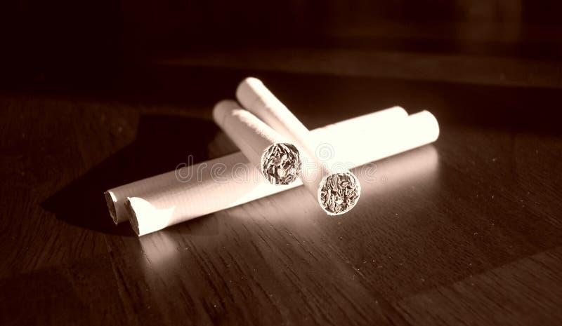 4 Sigaretten Stock Foto's