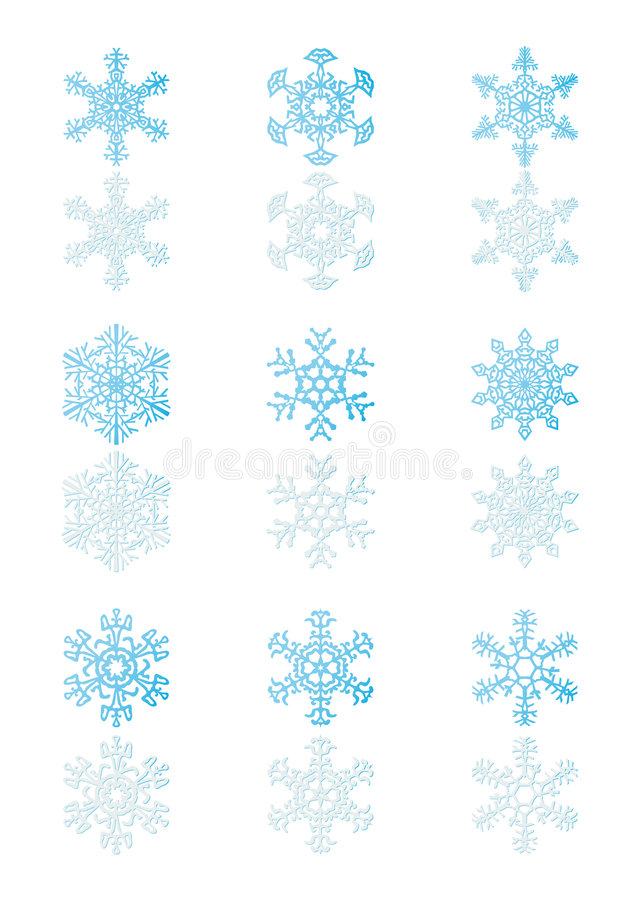 4 snowflakes απεικόνιση αποθεμάτων
