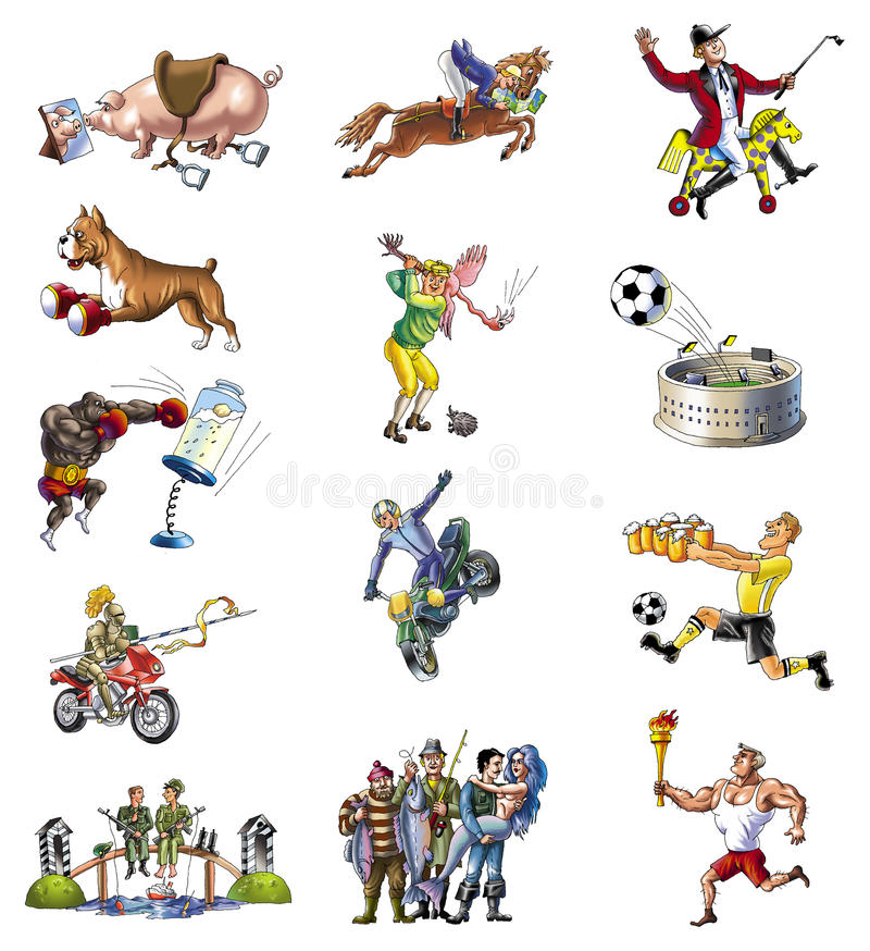 4 sport ilustracji
