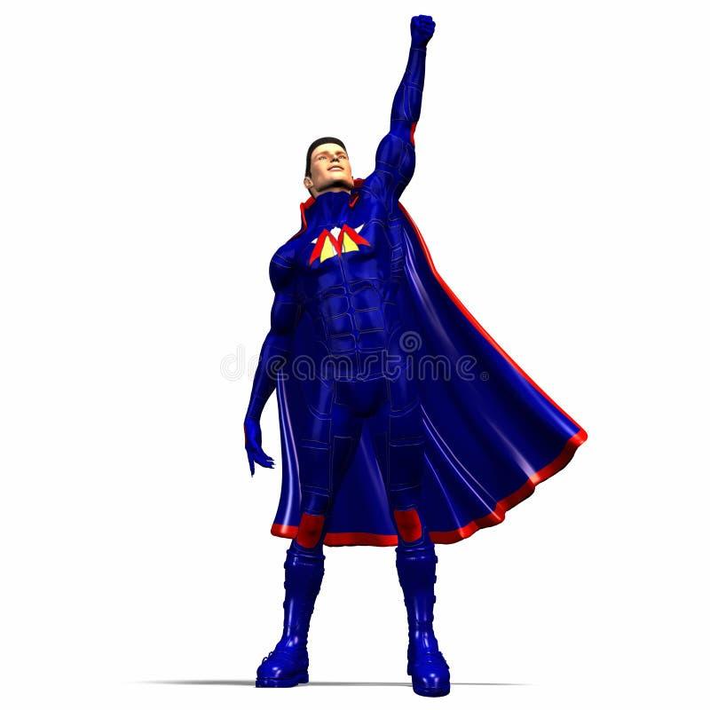 4 super bohater blues ilustracja wektor