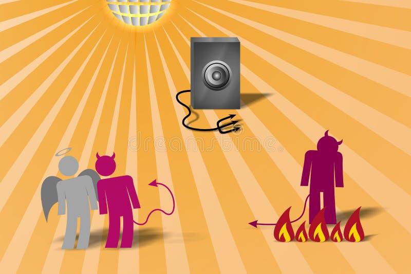 4 szatana dancingowego wektor ilustracja wektor