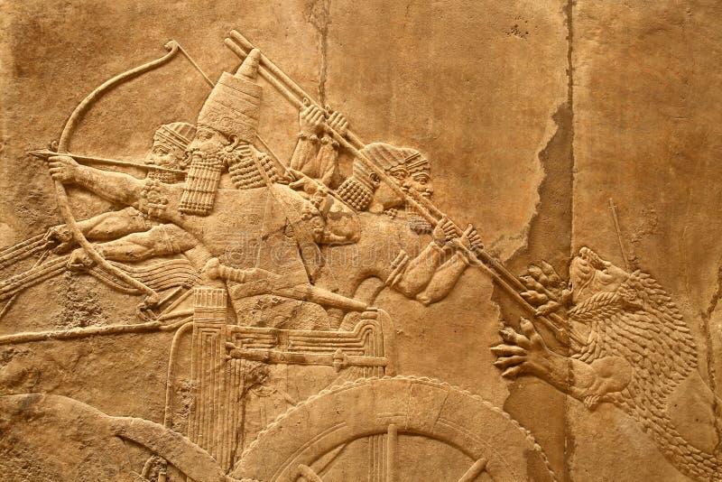 4 sztuki acient assyrian zdjęcie stock