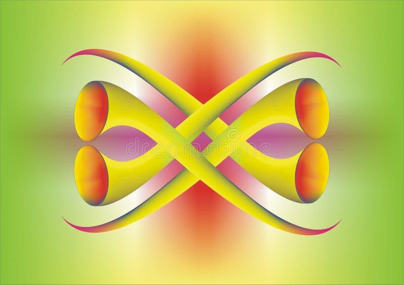 4 Trompets ilustración del vector