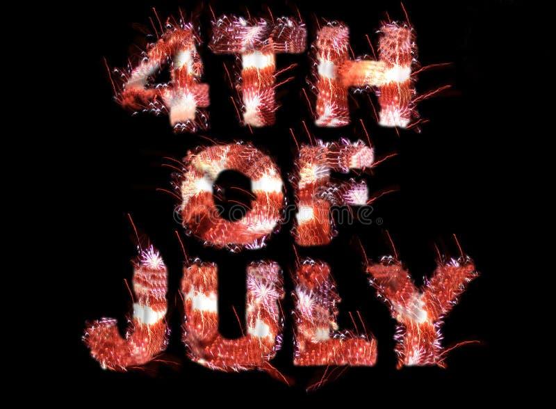 4 van juli stock illustratie