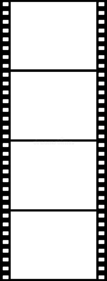 4 vertikala svarta plana bilder stock illustrationer