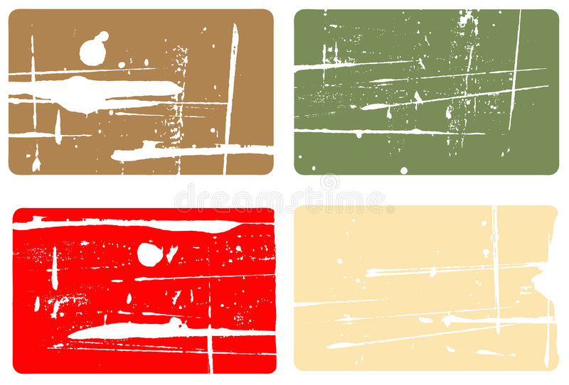 4 Visitenkarten vektor abbildung