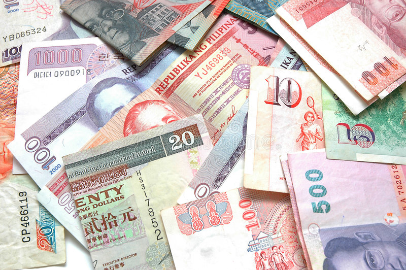 4 walut świata obraz stock