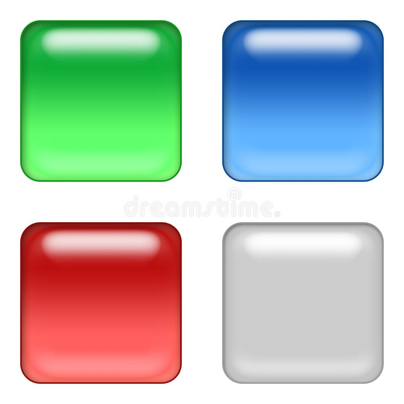 4 web buttons. Four website buttons - web design