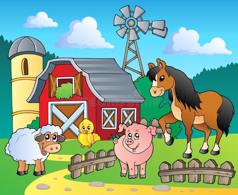 4 wizerunku rolny temat ilustracja wektor