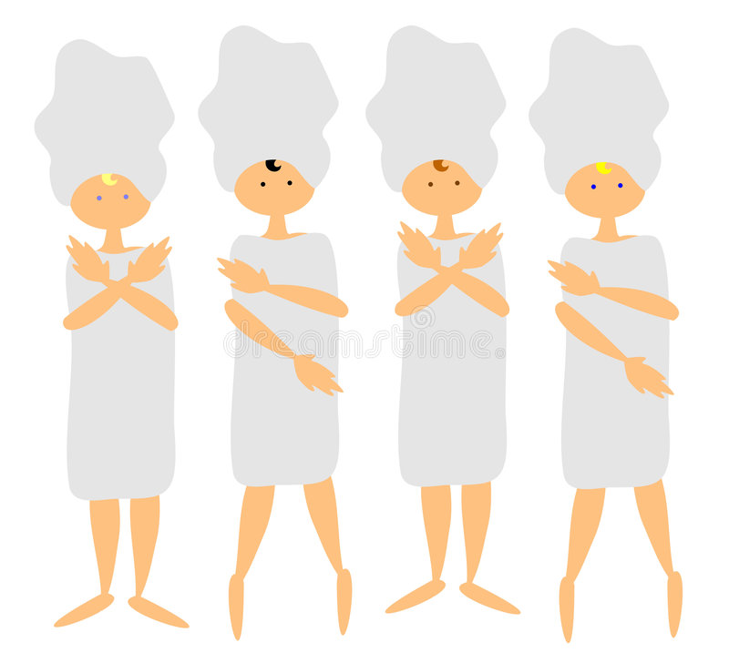 4 Women At The Spa Stock Images