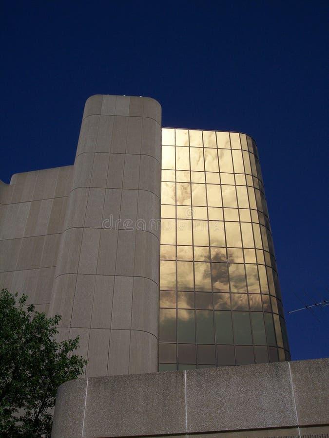 4 złoto biuro budynków zdjęcia stock