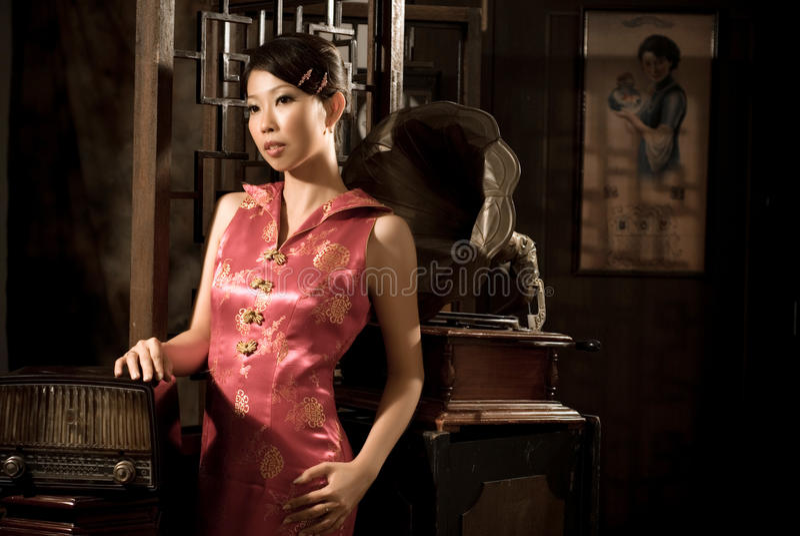 40âs Chinees meisje stock foto's