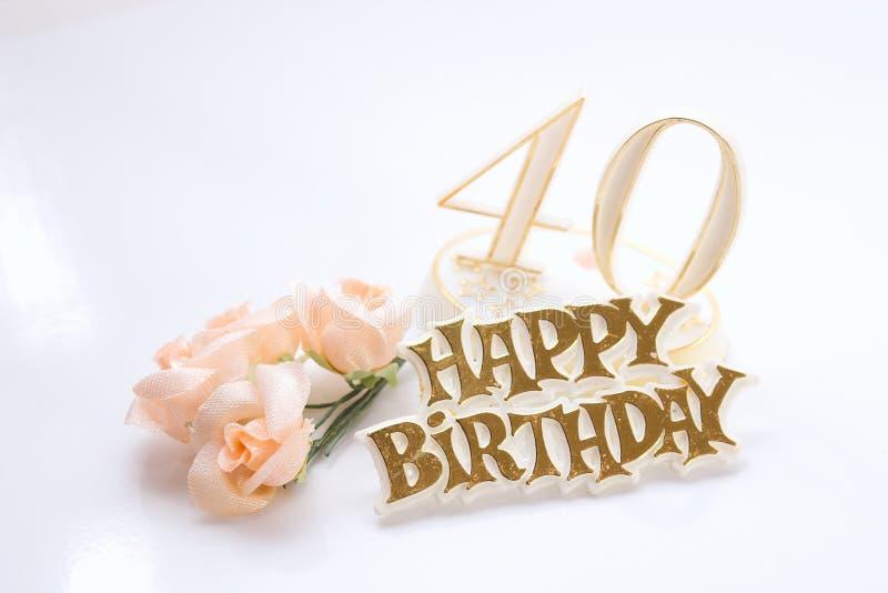 40ά γενέθλια στοκ φωτογραφίες