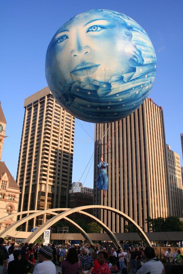 40周年纪念市政厅多伦多 库存图片