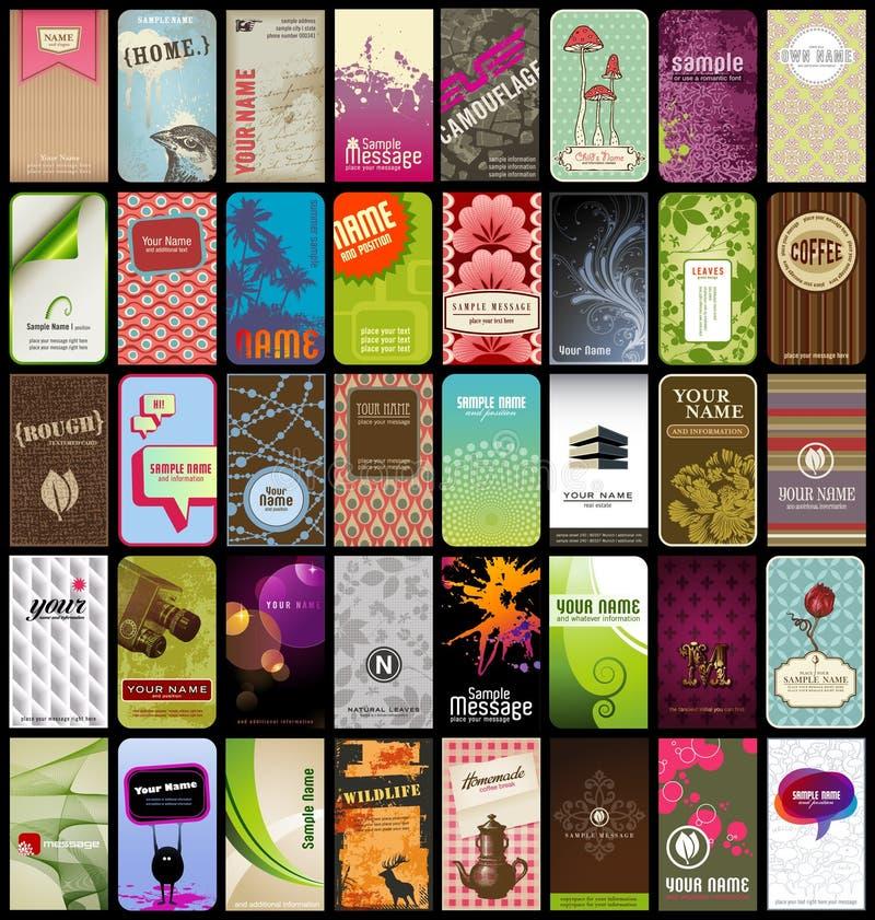 40 визитных карточек Стоковые Изображения