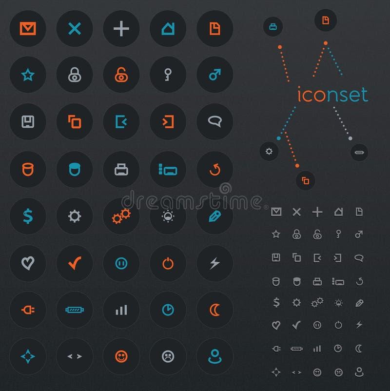 40 икон сети бесплатная иллюстрация