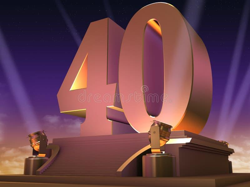 40 d'or - type de film illustration de vecteur