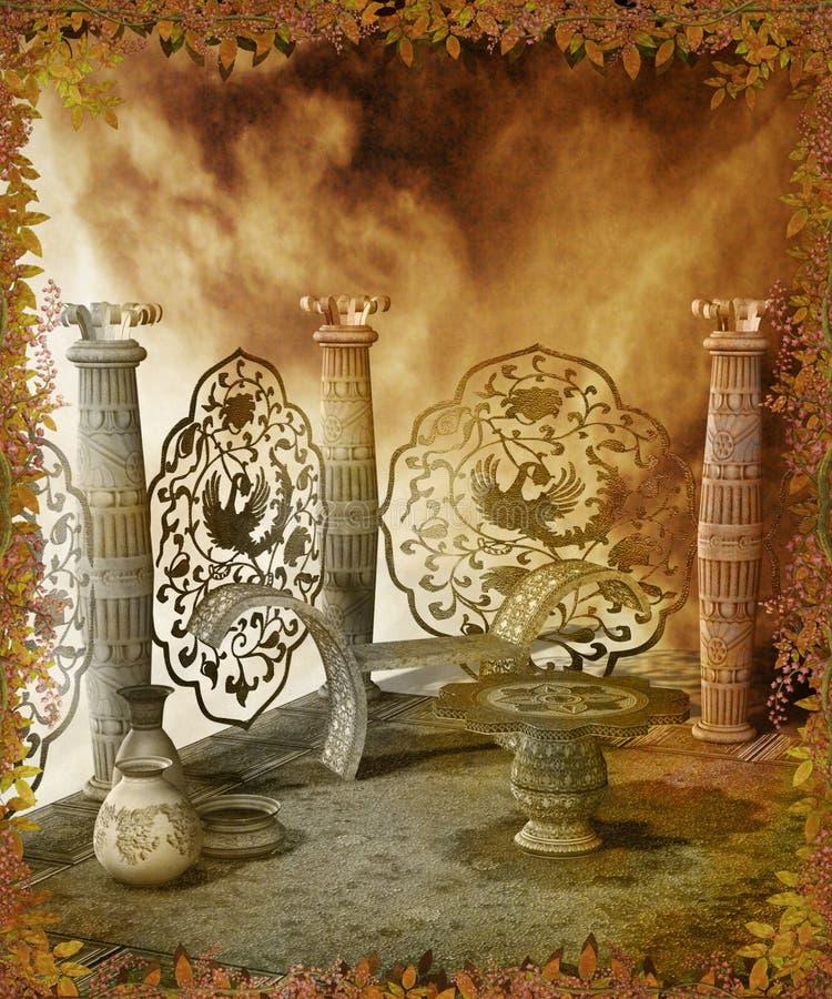 40 fantazj sceneria ilustracja wektor