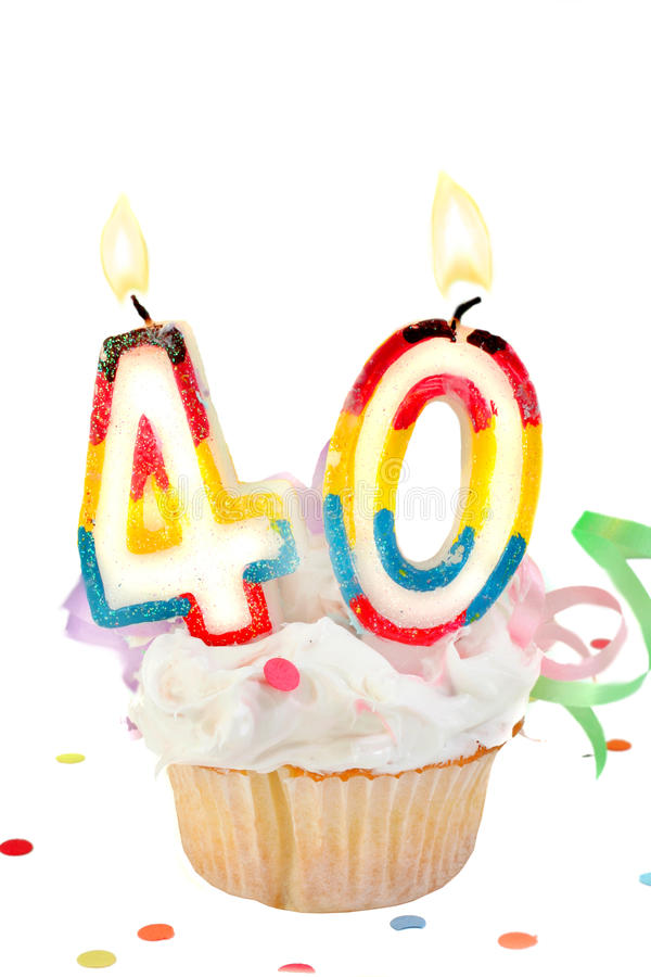 40. Geburtstag stockfotografie