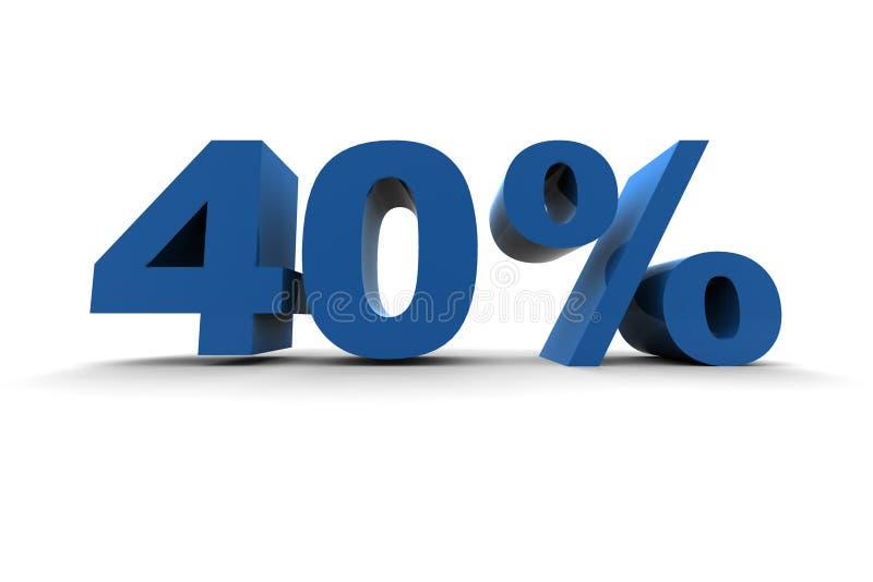40% isolado ilustração stock