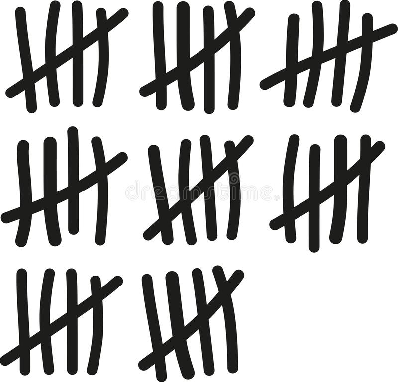 Free 40 Lines Counting - Fourty Birthday Stock Photography - 107178532