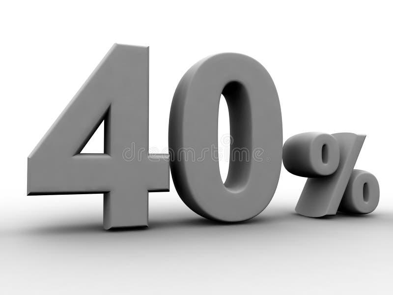 40 per cento illustrazione di stock