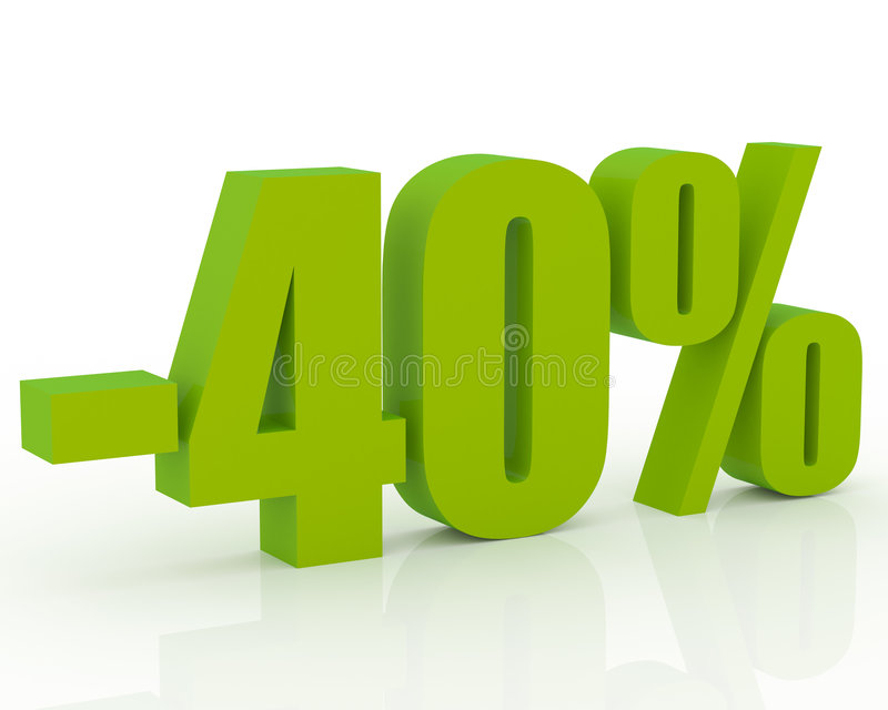 40% Rabatt lizenzfreie abbildung