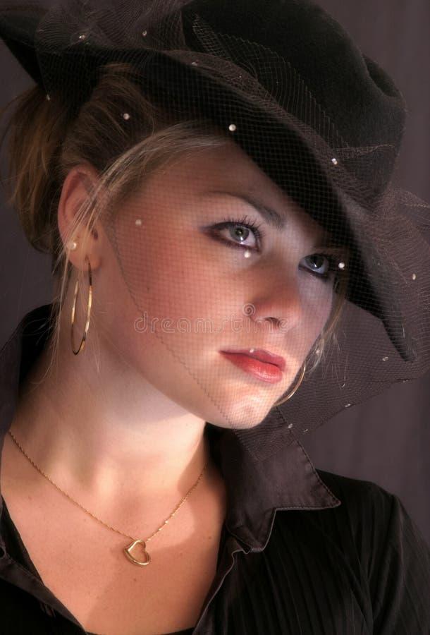 40 s style woman young στοκ εικόνα με δικαίωμα ελεύθερης χρήσης