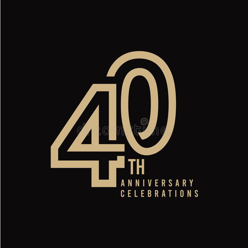 Free 40 Th Anniversary Celebration Vector Template Design Illustration Stock Photography - 154129872