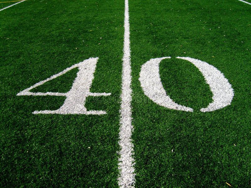 40 Yard Line royalty free stock photo