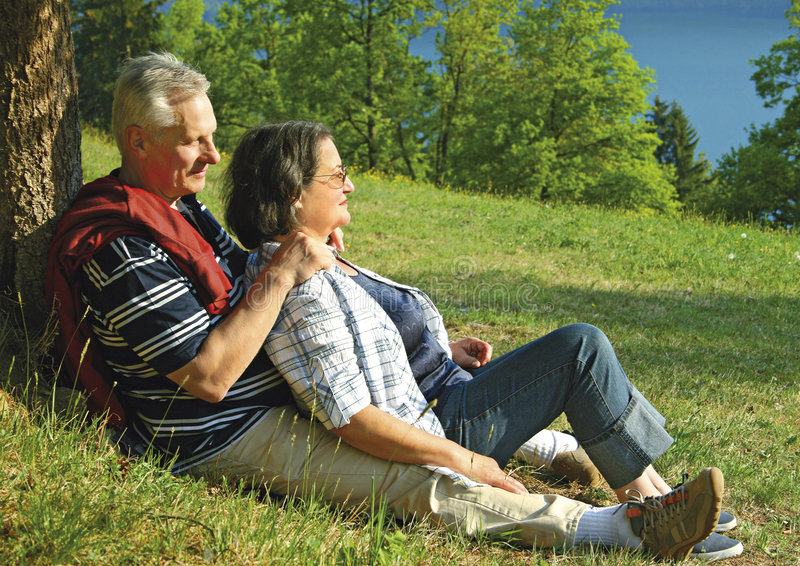 40 years love 13. Attractive married mature couple enjoying togetherness royalty free stock photography