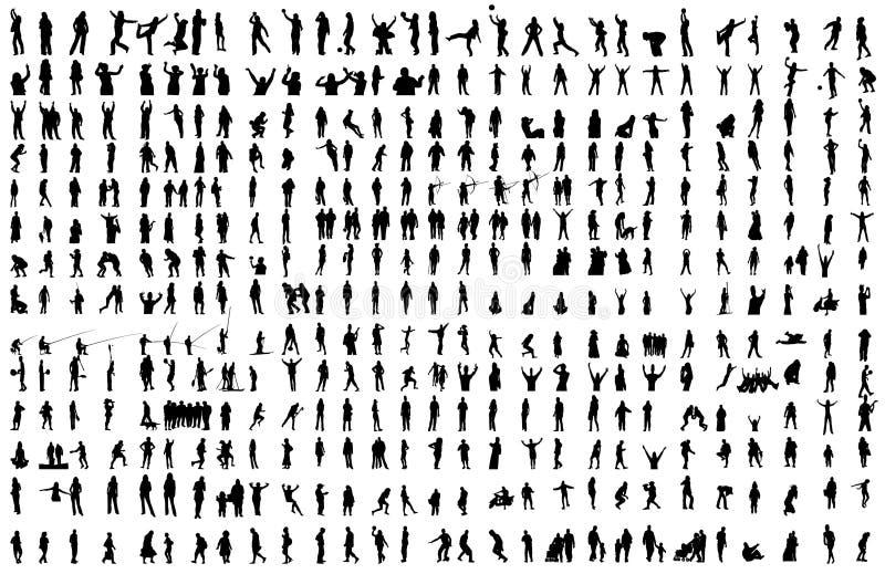 400 gens différents de clip d'arround d'activités illustration de vecteur