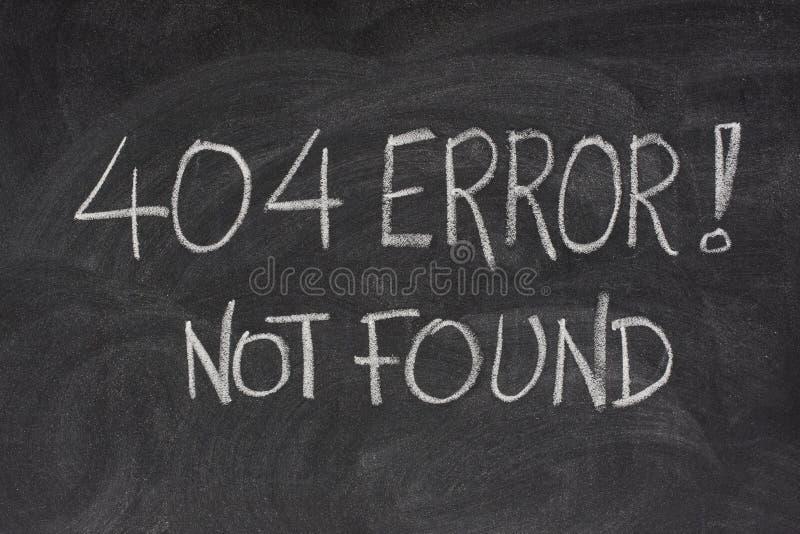 404 błędu kartoteki znajdujących interneta nie obraz stock
