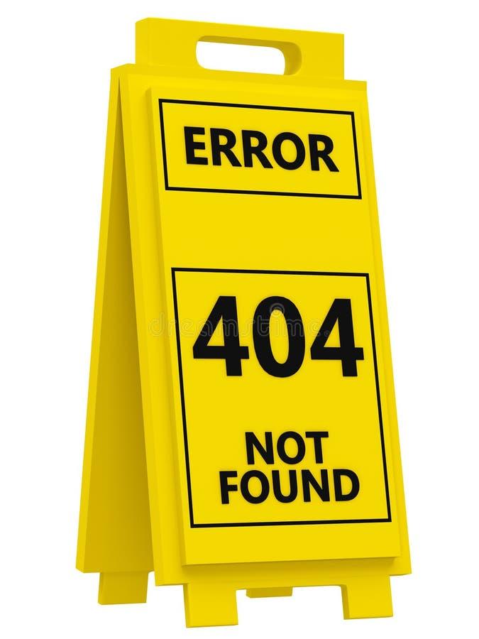 404 Error Sign Stock Image