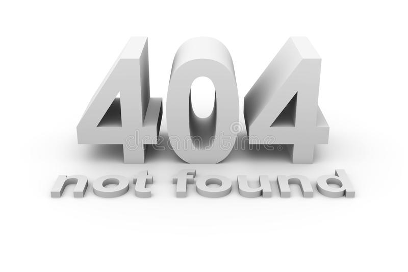404 - Not Found Royalty Free Stock Images