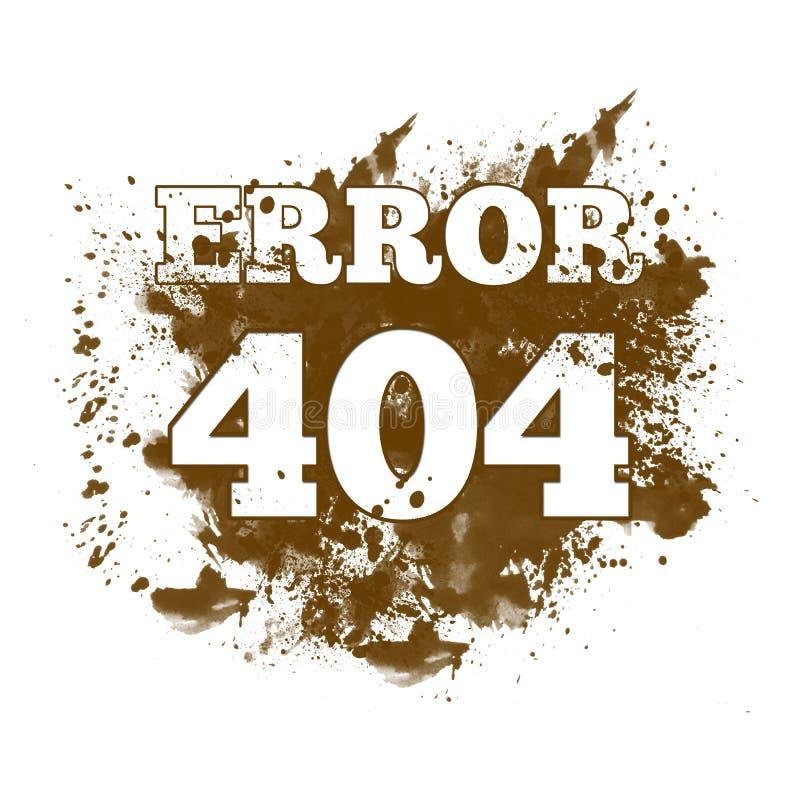 404 om te vinden niet - Spat stock illustratie
