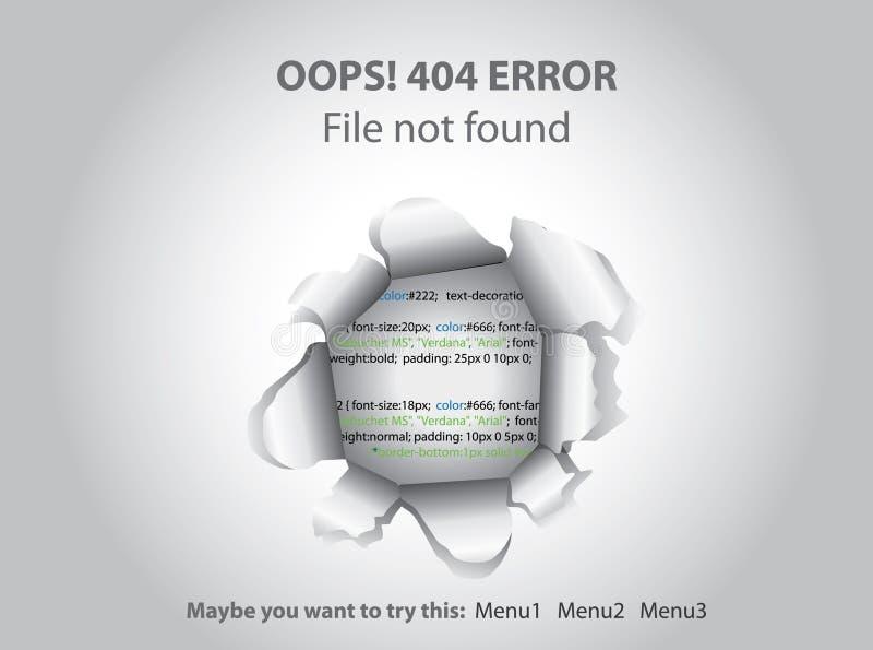 404 znajdująca nie strona royalty ilustracja