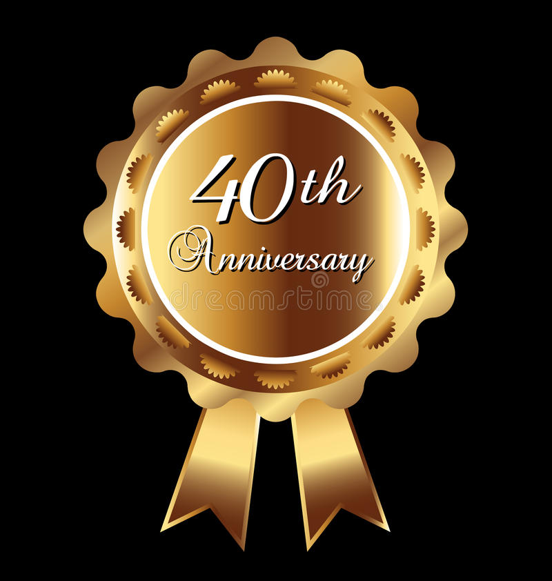 40th Anniversary Medal Stock Images