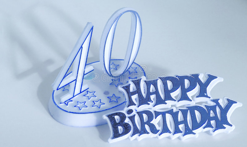 40th birthday stock image