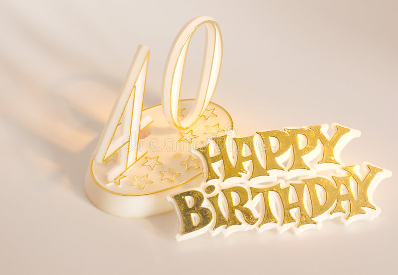 40th Birthday Stock Image Image Of Party Celebrate Gold 86905