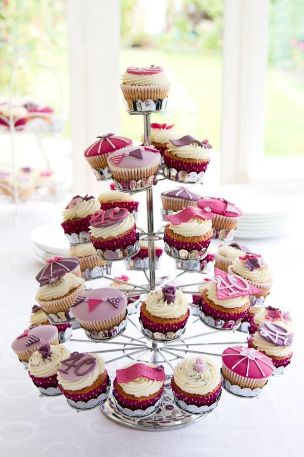 40th birthday cupcakes royalty free stock photo