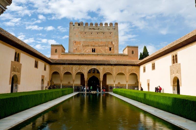 41 - Cour d'Alhambra des myrtes photo libre de droits