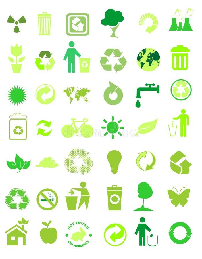 42个环境图标设置了 库存例证