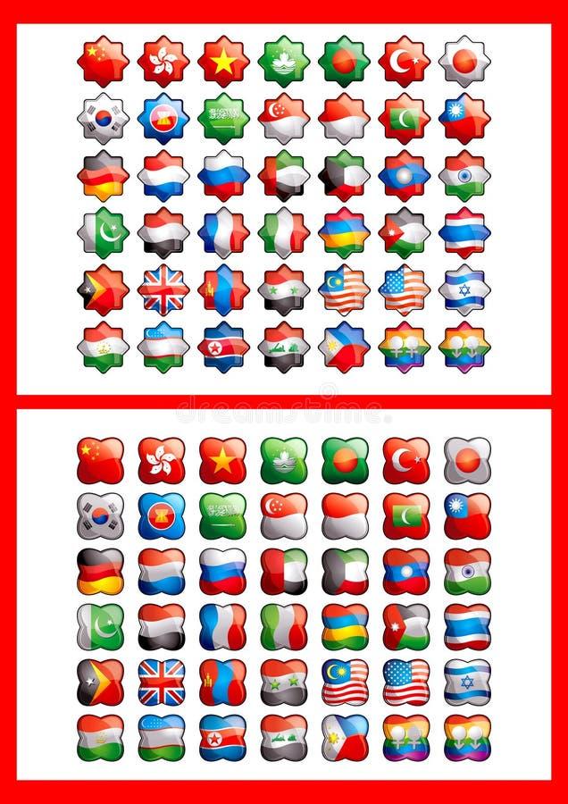 42 bandeiras ilustração do vetor