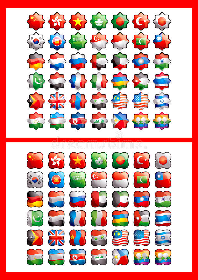 42 Flags Royalty Free Stock Image