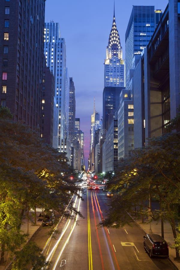 42. Straße in Manhattan lizenzfreies stockbild